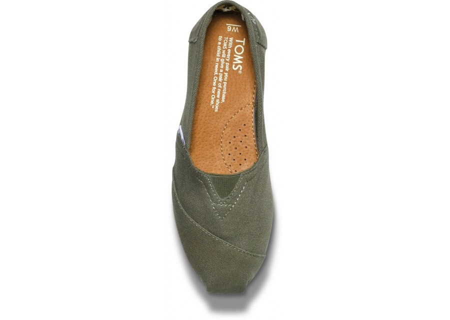 c046c2433ac Lyst - TOMS Olive Canvas Womens Classics in Green for Men