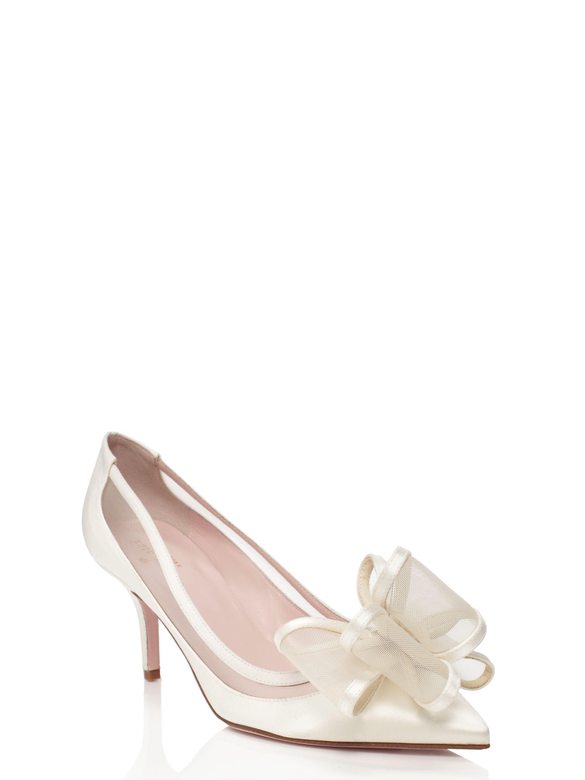 kate spade jackie heels in white ivory lyst