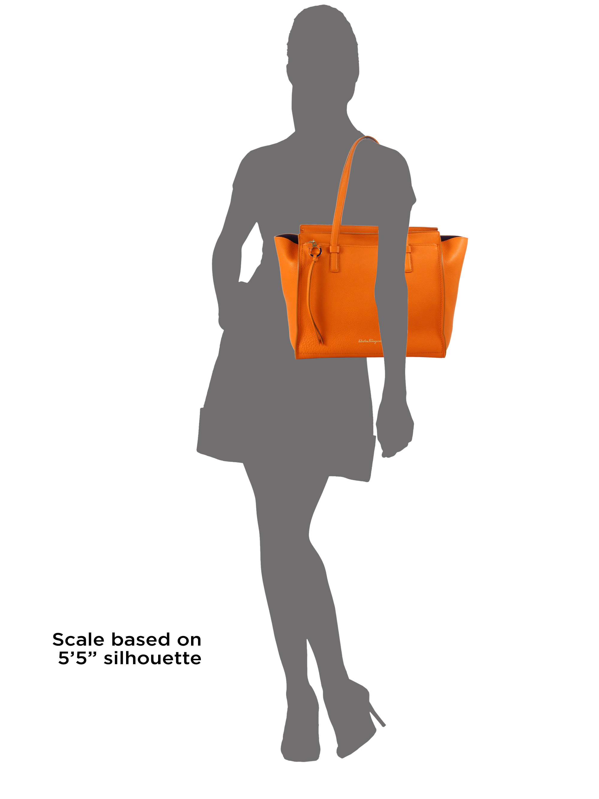 34d9c07064fa Lyst - Ferragamo Amy Large Soft Leather Tote in Orange