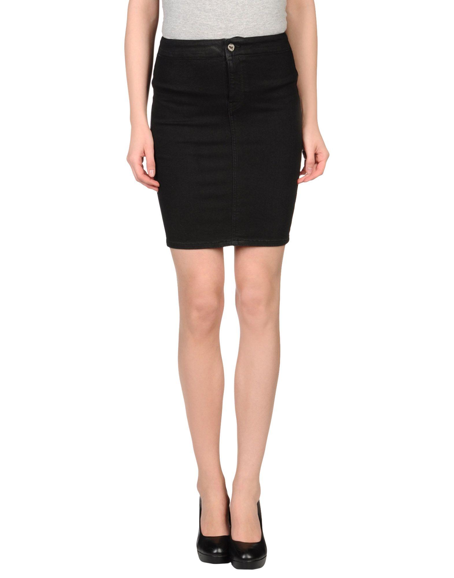 m i h black wash denim skirt in black lyst