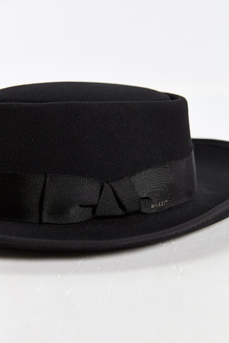 045ceee333a2e2 ... where can i buy lyst bailey of hollywood cosgrove wide brim pork pie hat  in black