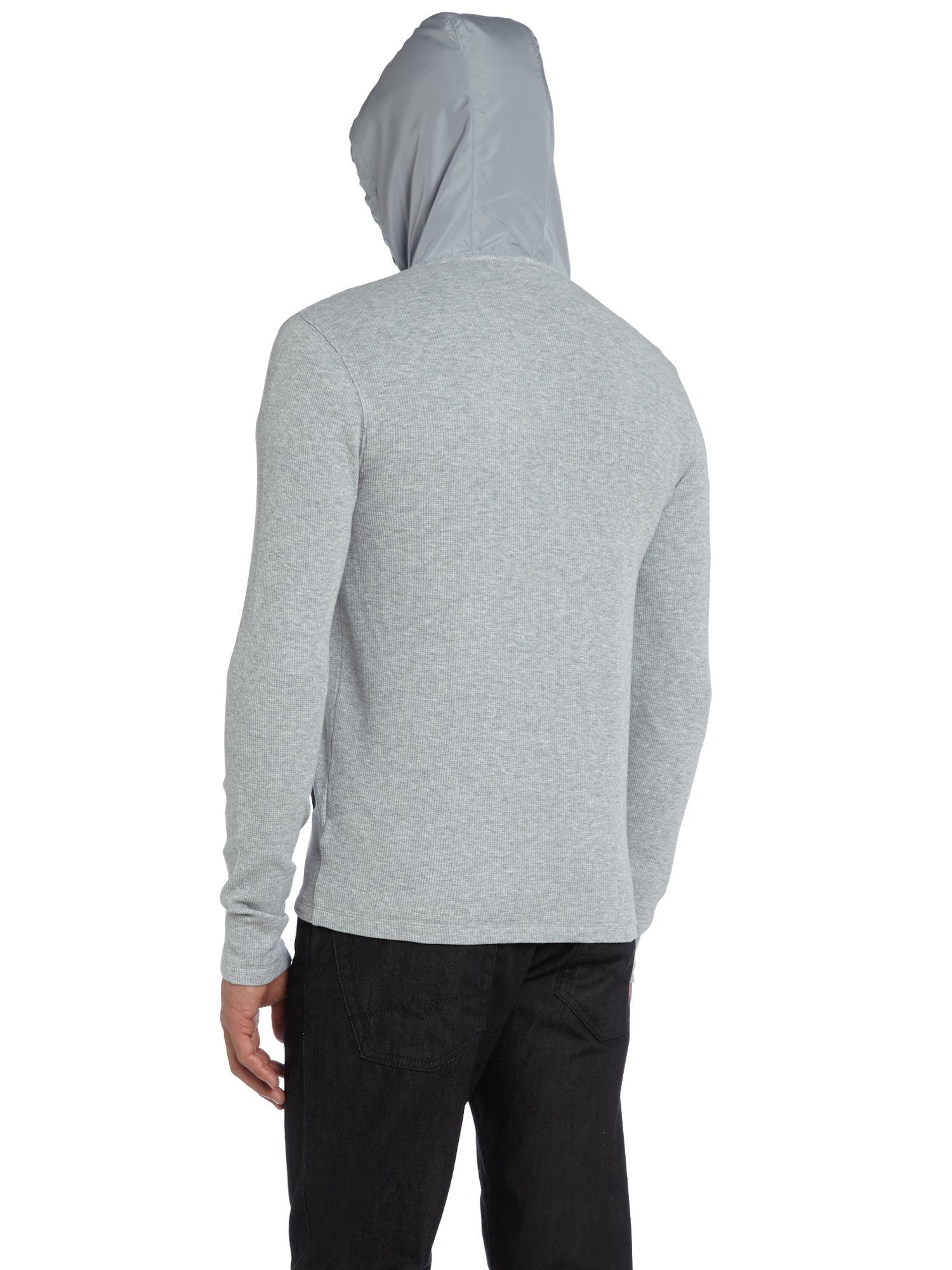 Michael Kors Zip Up Waffle Hooded Jacket in Heather (Grey) for Men