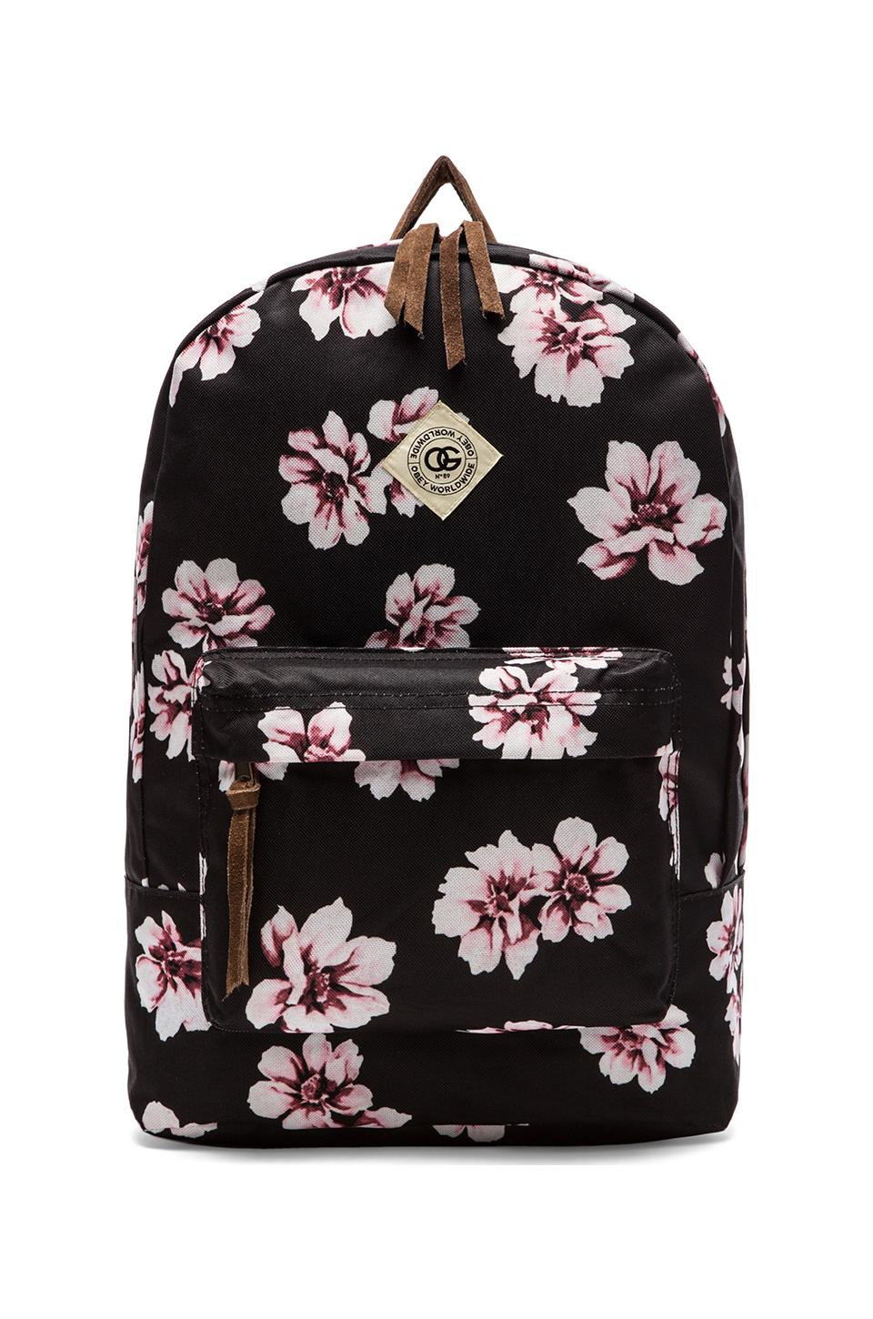 Obey Outsider Backpack in Pink | Lyst