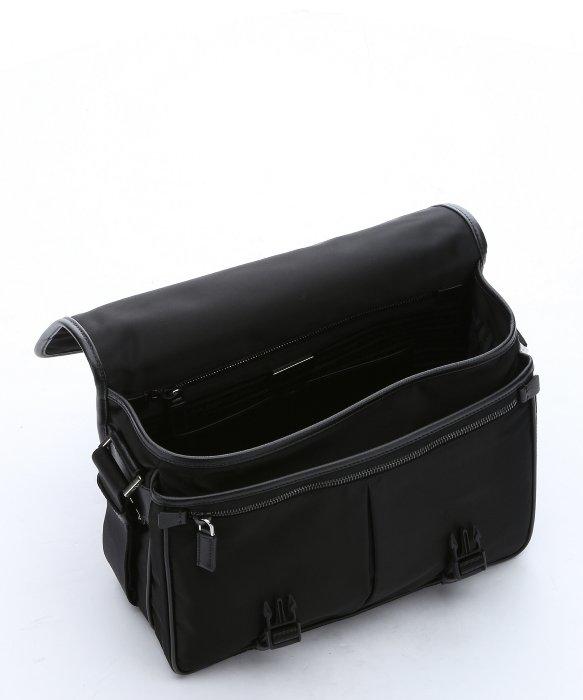 prada messenger bags - Prada Black Leather Trimmed Nylon Messenger Bag in Black for Men ...