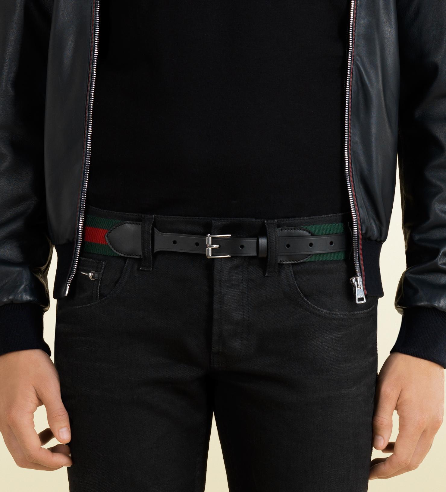 60f8d48f7ad Lyst - Gucci Signature Web Belt in Green for Men
