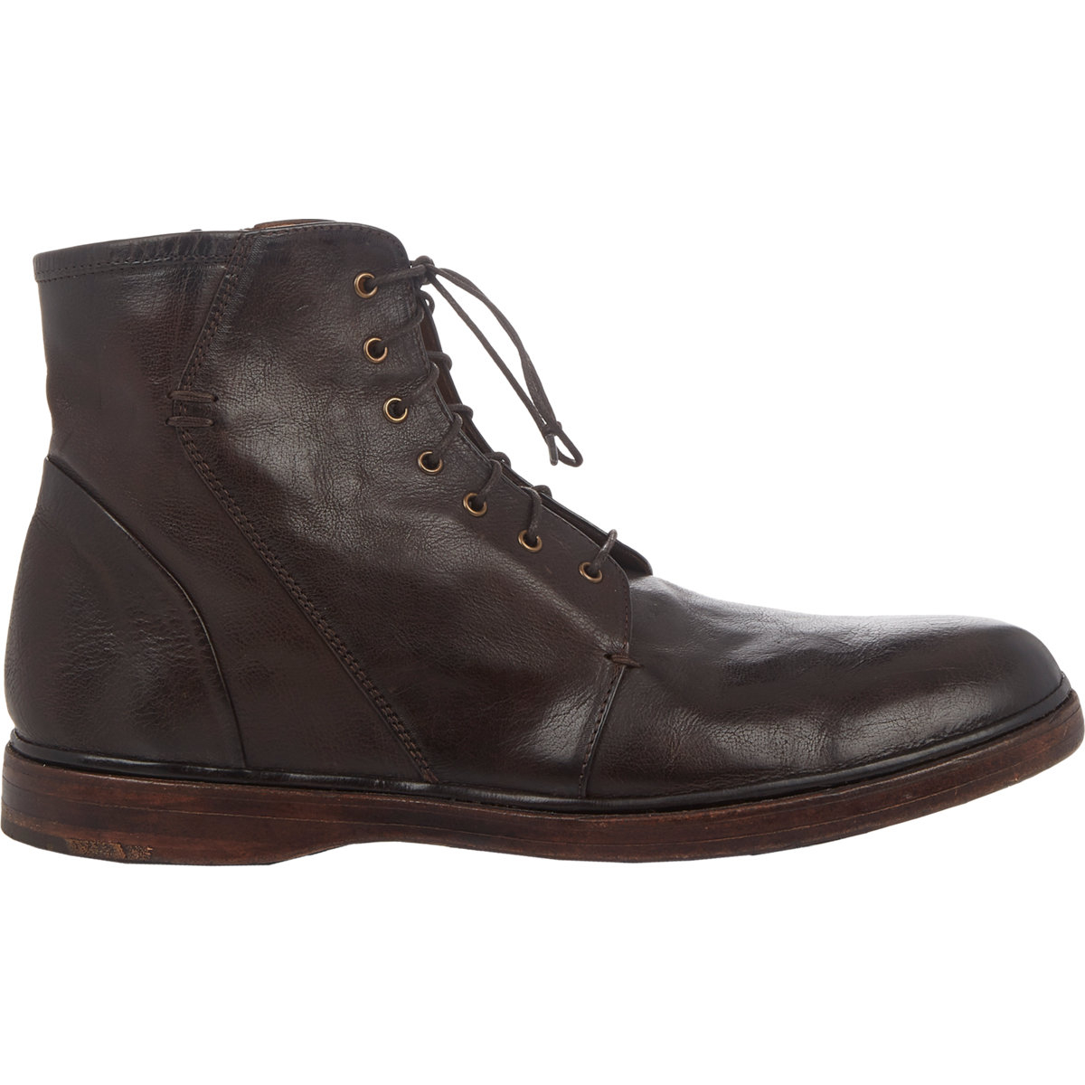 Elia Maurizi Side Zip Boots In Brown For Men Lyst
