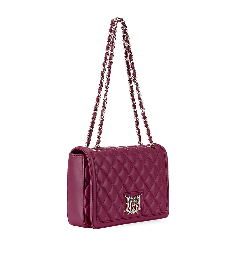 love moschino quilted shoulder bag in purple lyst. Black Bedroom Furniture Sets. Home Design Ideas