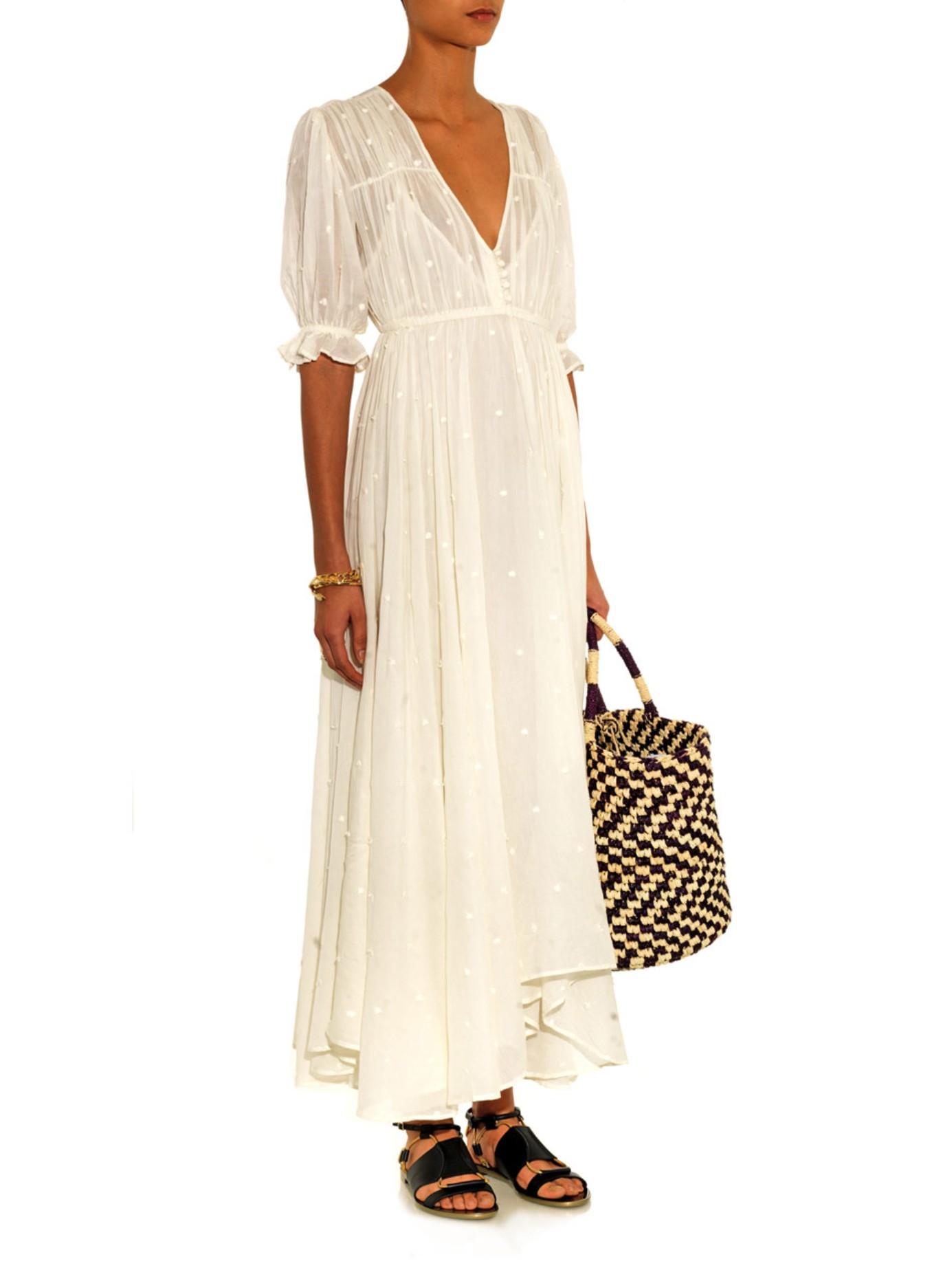 Gauze dresses white long
