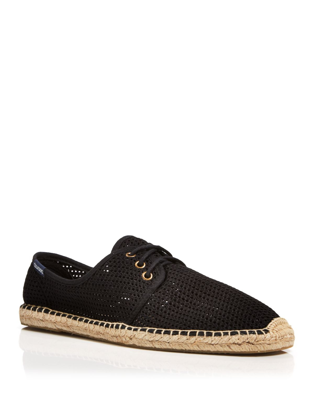 Shop Women's Soludos Black size Espadrilles at a discounted price at Poshmark. Description: Soludos Leather Lace-Up Espadrilles Color: Black Size: ***Brand New*** THE DETAILS Based on feedback from Members, this item typically runs small. We suggest sizing up.