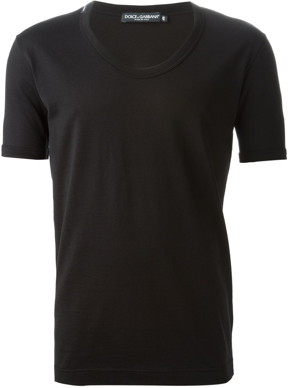 dolce gabbana classic t shirt in black for men lyst. Black Bedroom Furniture Sets. Home Design Ideas