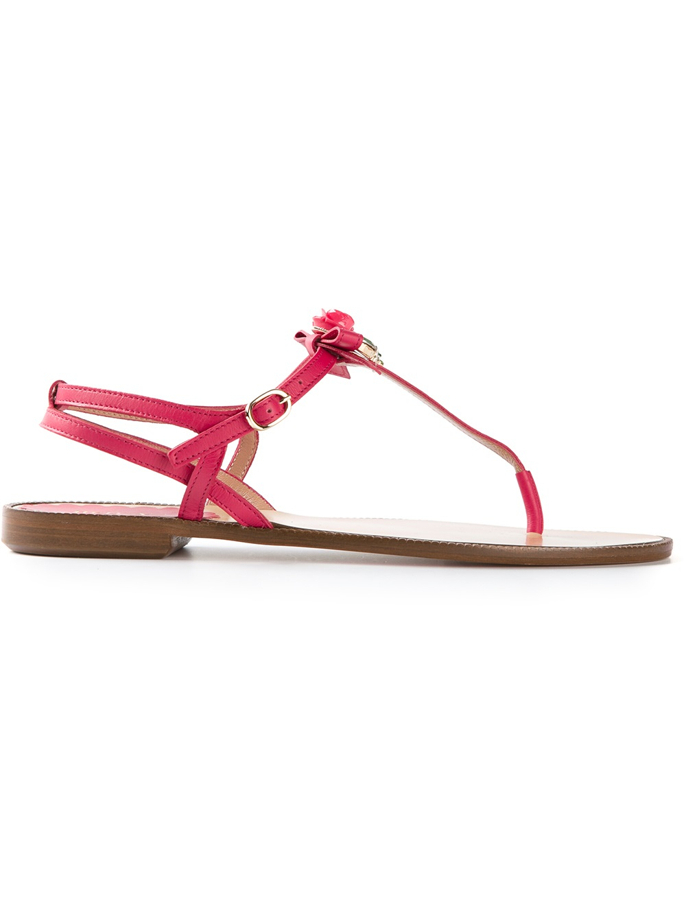 Lyst Red Valentino Rose Embellished Sandals In Pink
