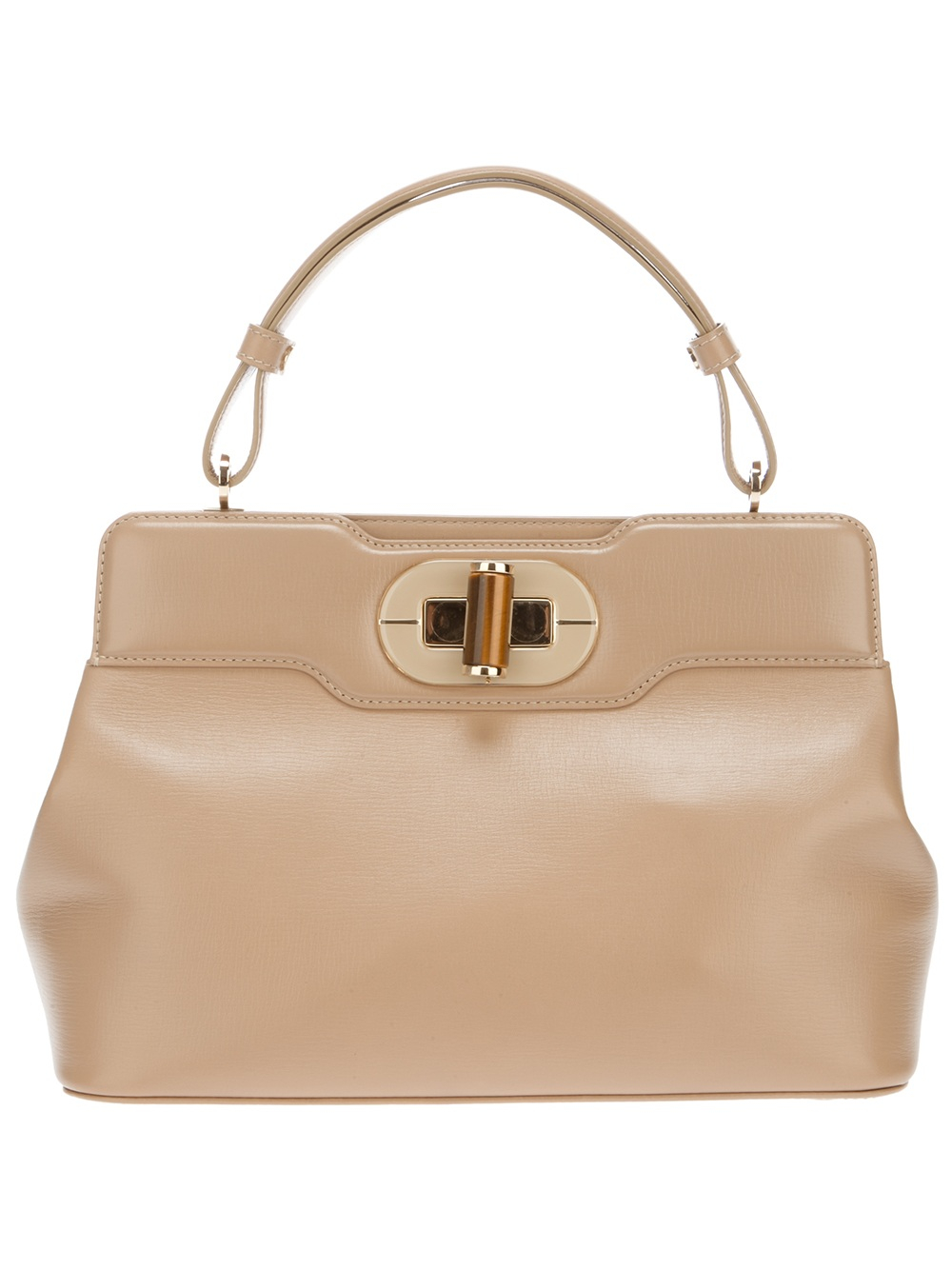 BVLGARI I Rossellini Leather Tote in Natural