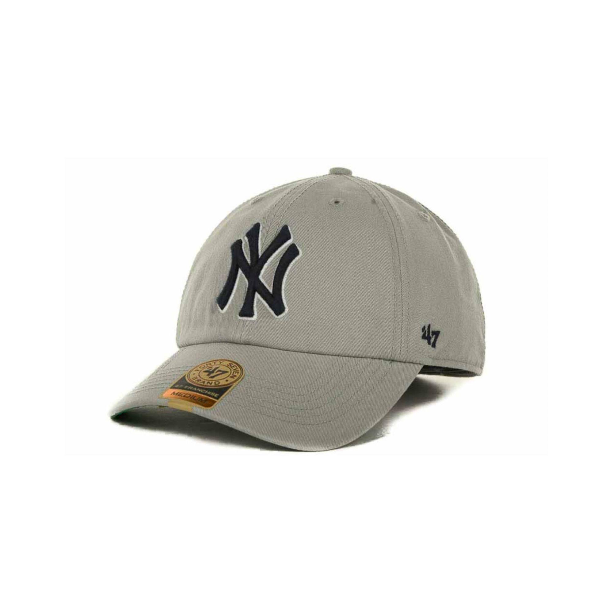 47 brand new york yankees mlb 39 47 franchise cap in gray. Black Bedroom Furniture Sets. Home Design Ideas