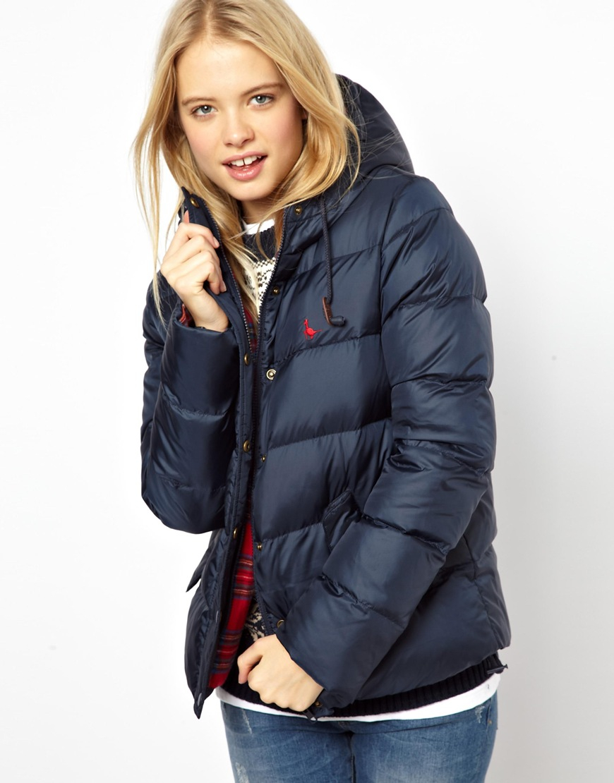 Jack Wills Padded Jacket In Navy Blue Lyst