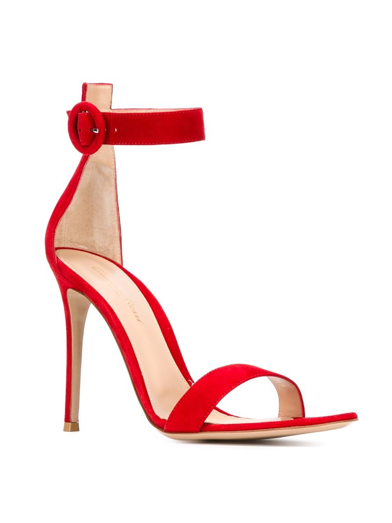 a4087f1a2d84 Lyst - Gianvito Rossi  Portofino  Sandals in Red