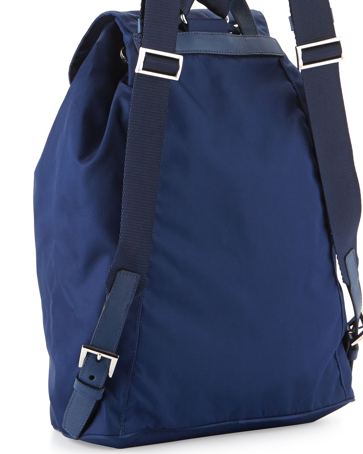 401983ef431058 Prada Vela Medium Backpack in Blue - Lyst