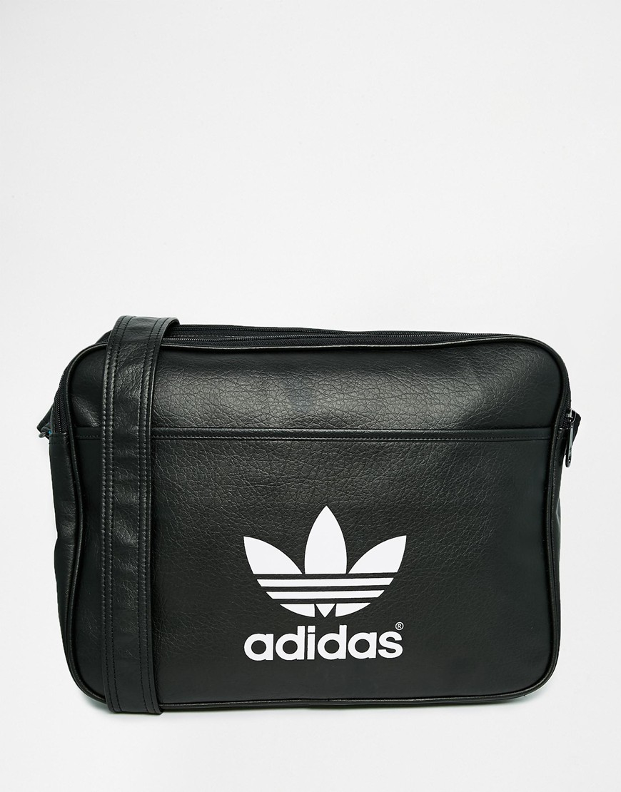 ... Black  factory price c7668 8460c Lyst - Adidas Originals Airliner Messenger  Bag Ab2709 in Bla ... 9723a92a7b