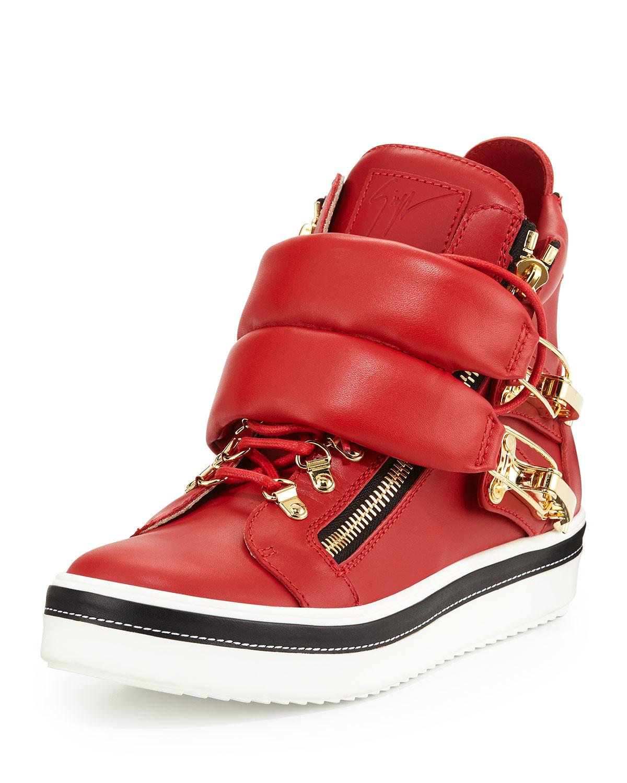 Giuseppe Zanotti Skylar Leather High-Top Sneakers