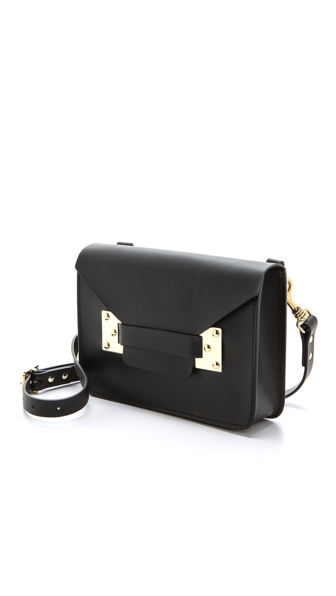 Sophie Hulme Mini Envelope Bag In Black Lyst