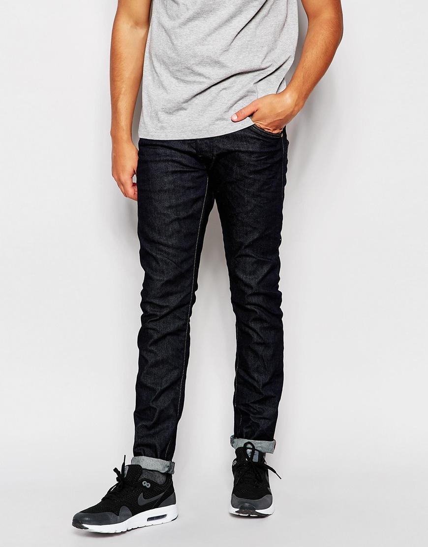 jack jones rinse wash slim jeans in black for men lyst. Black Bedroom Furniture Sets. Home Design Ideas