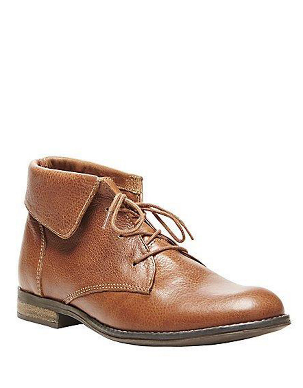 steve madden stringrei leather ankle boots in brown