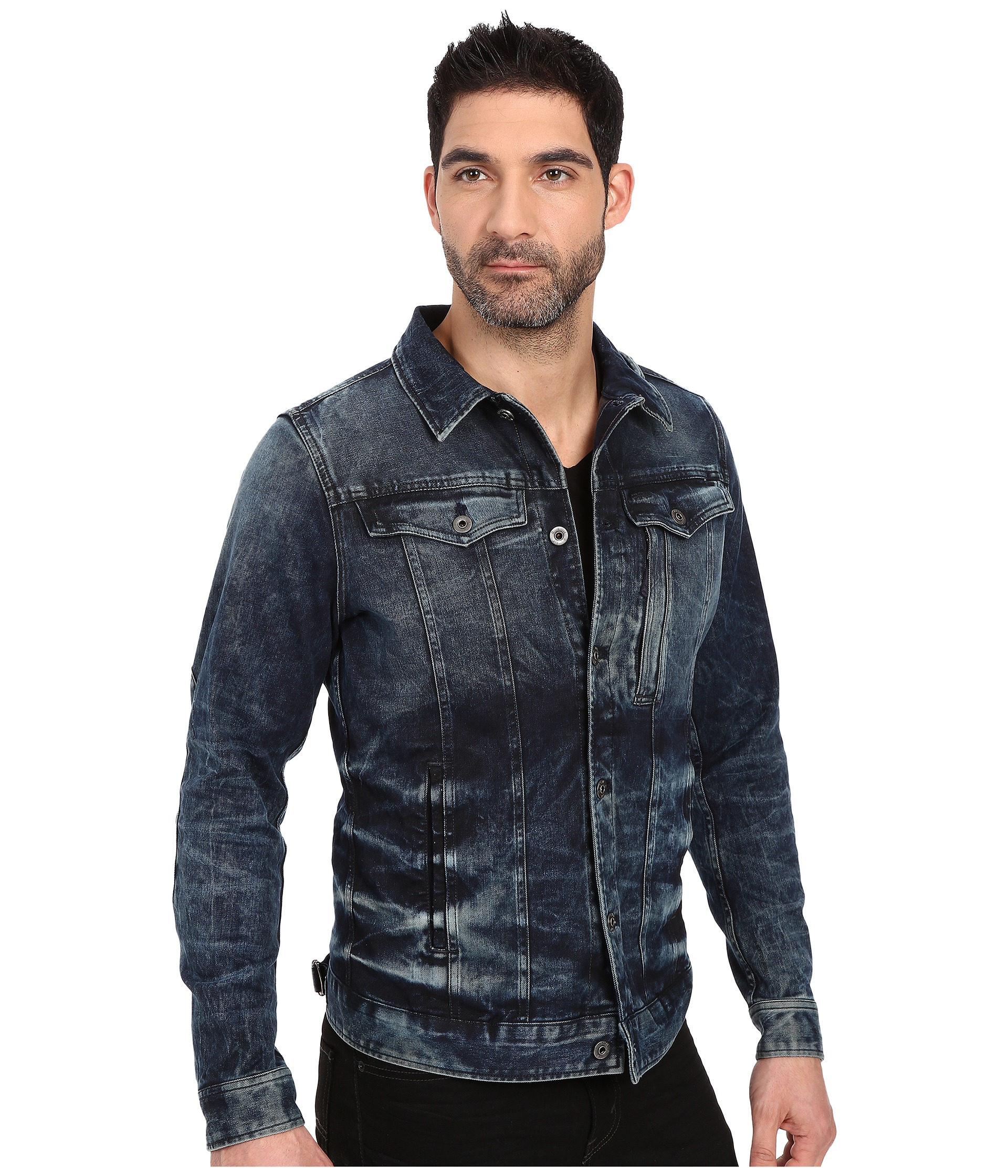 g star raw 3301 3d slim jacket in blue for men lyst. Black Bedroom Furniture Sets. Home Design Ideas