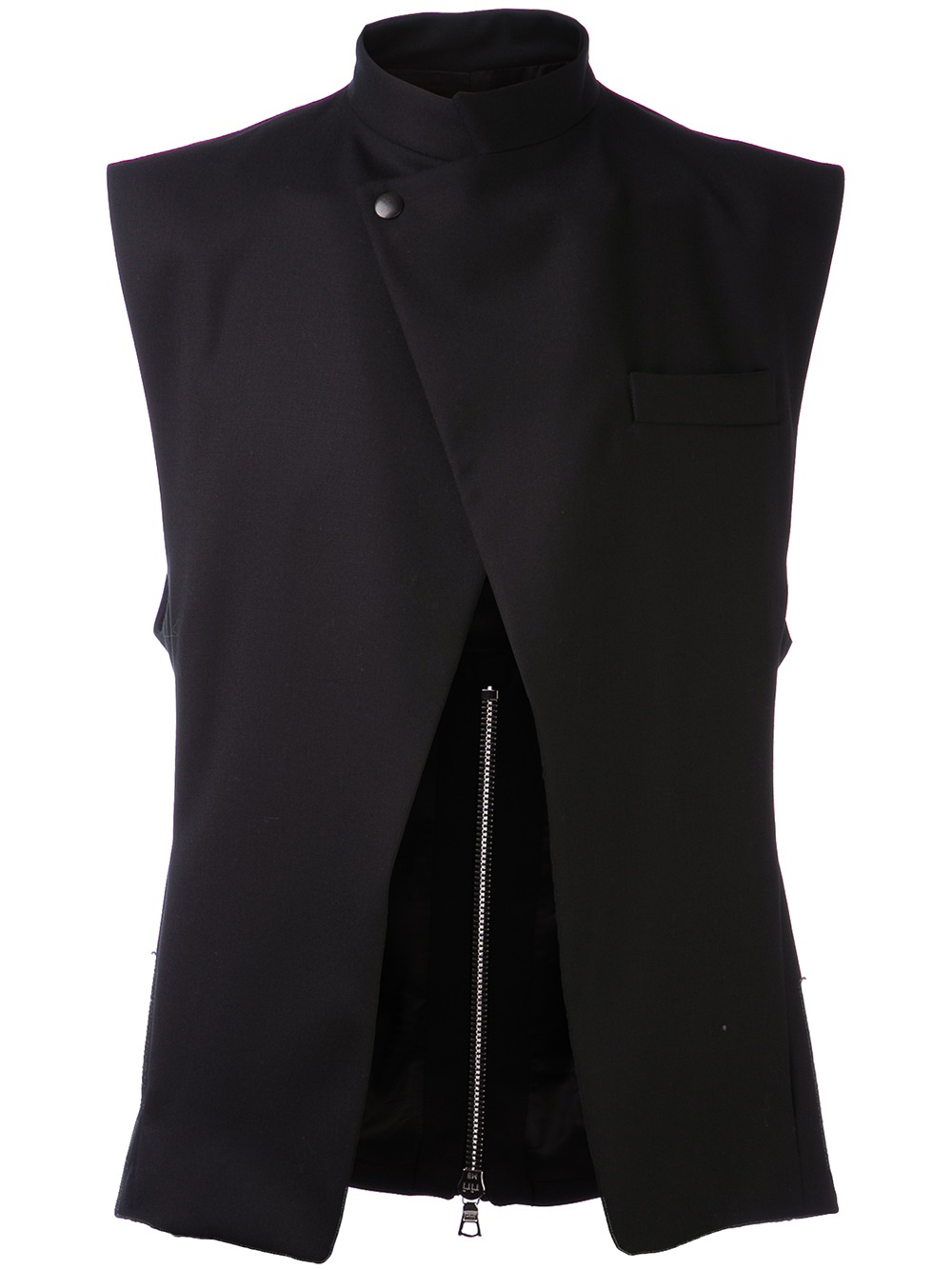 Public School Asymmetrical Suit Vest In Black For Men Lyst