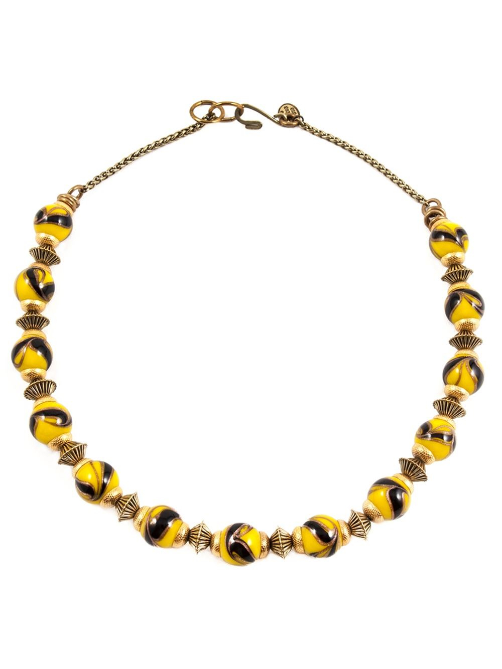 Aris Geldis Three Circular Choker Necklace in Gold and Black Onyx Plated Brass rA3EQAl