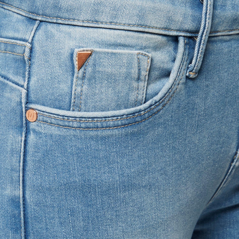 River Island Denim Light Wash Amelie Superskinny Jeans in Blue