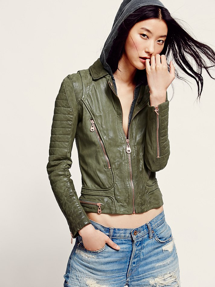 Lyst Free People Doma Womens Doma Green Hood Leather