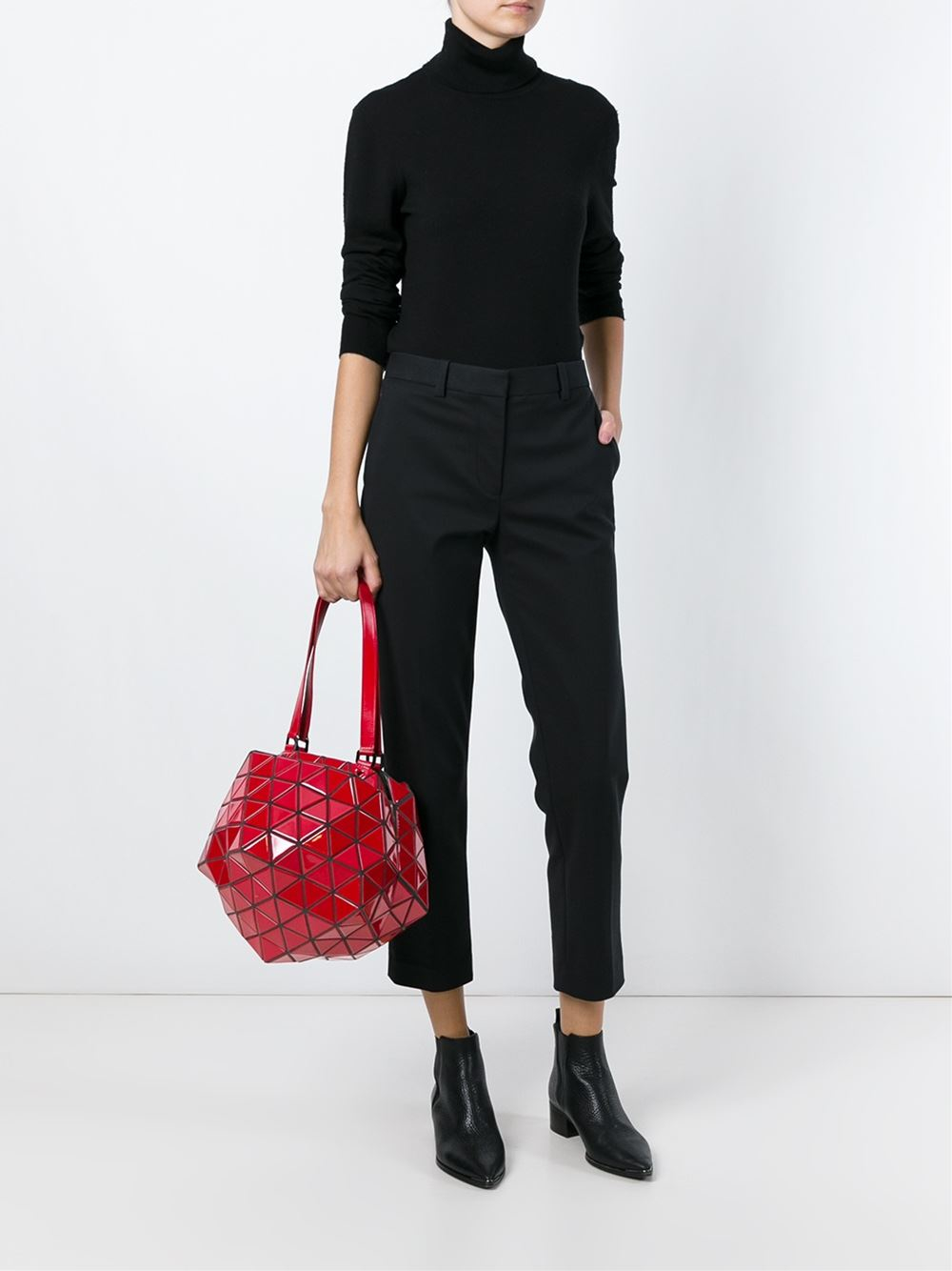 4bd3e6ffa92 ... Lyst - Bao Bao Issey Miyake Planet Shoulder Bag in Red reputable site  6395c 276a1 ...