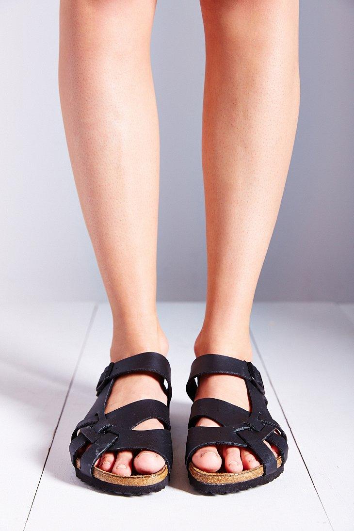 Birkenstock Pisa Side Braid Slide Sandal in Black