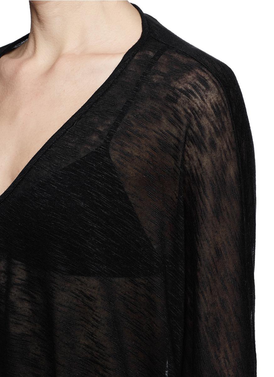 helmut lang dropped shoulder t shirt in black lyst. Black Bedroom Furniture Sets. Home Design Ideas