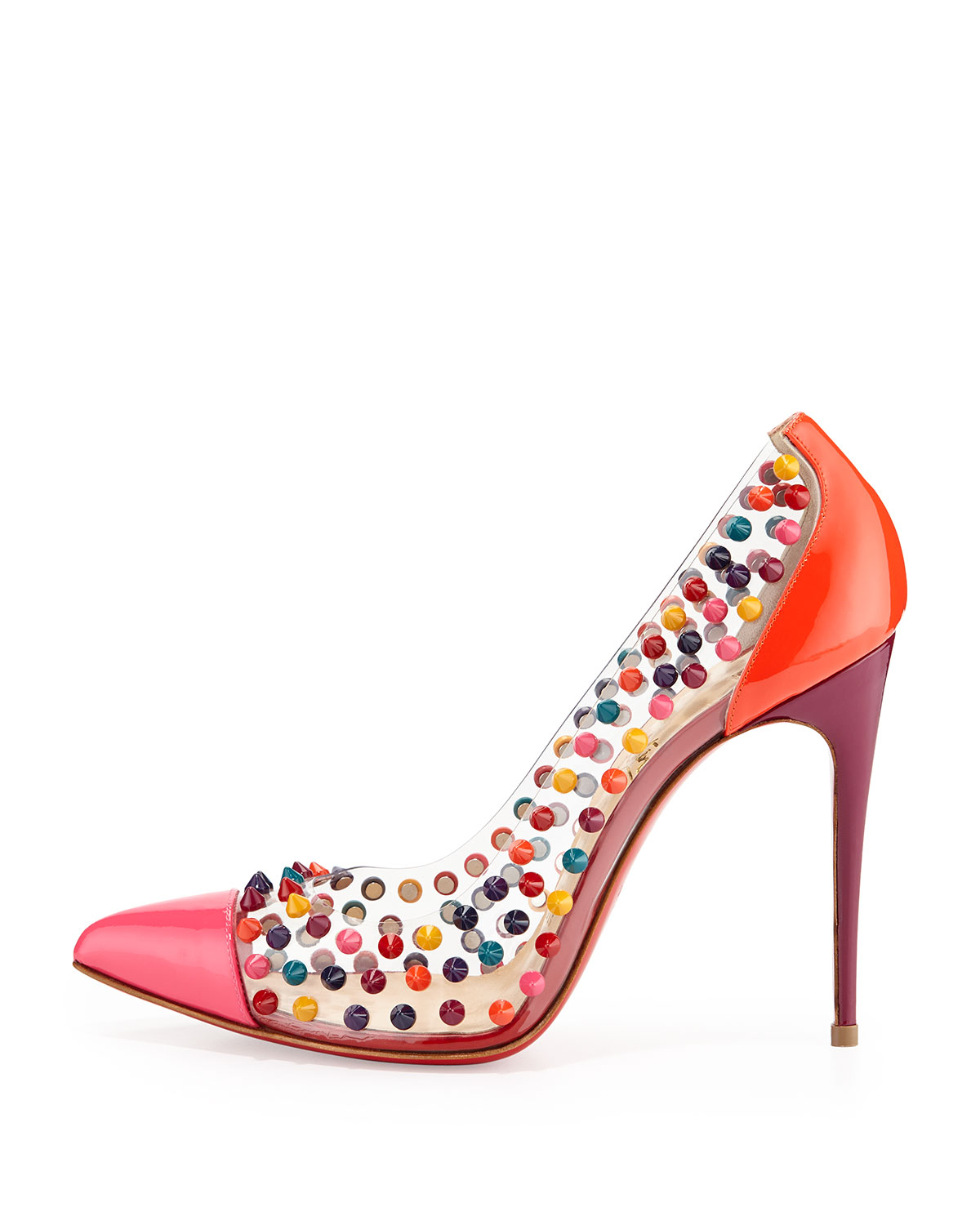 christian loubatan shoes - christian louboutin pointed-toe pumps Ivory and multicolor leather ...