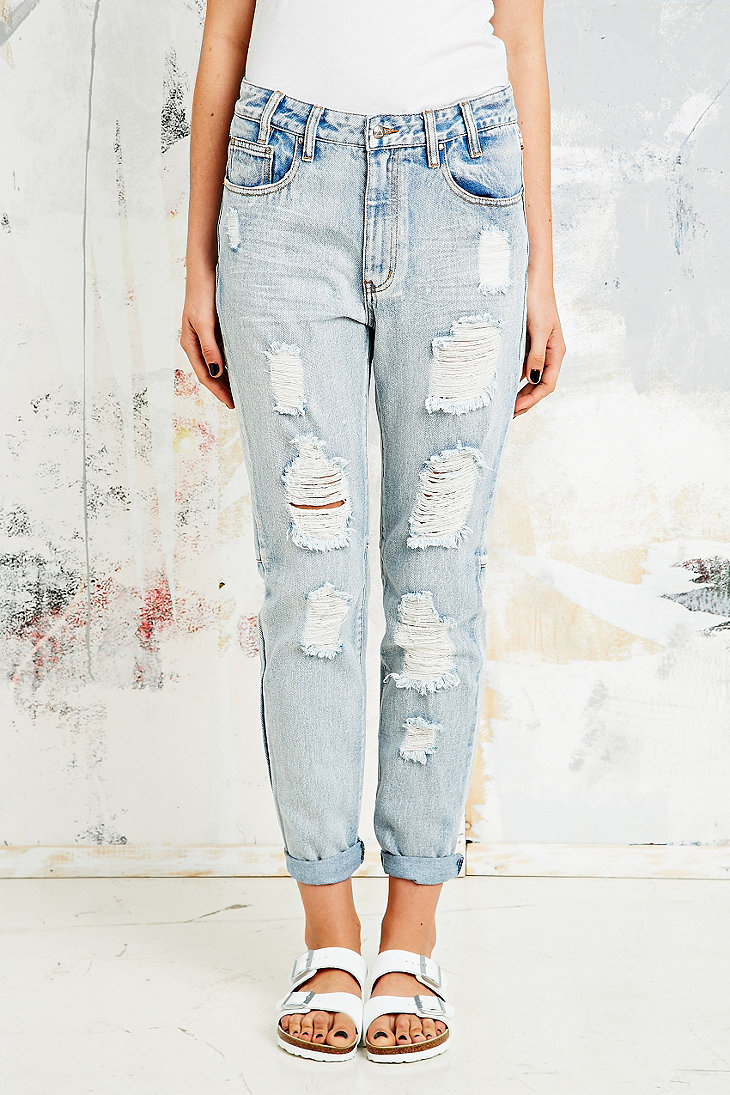 Somedays Lovin Embers Destroy Boyfriend Jeans in Blue