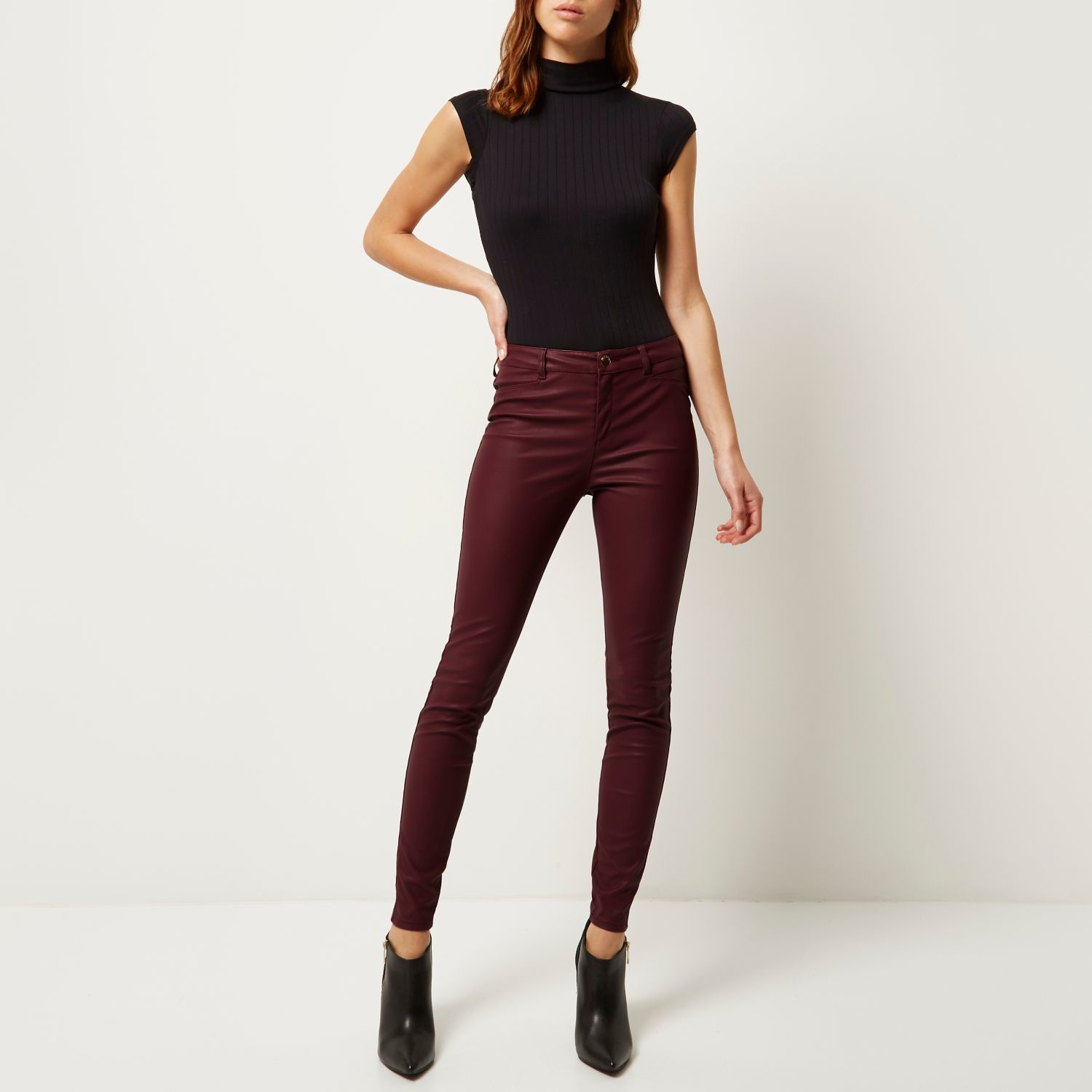 Lastest Womens Red Skinny