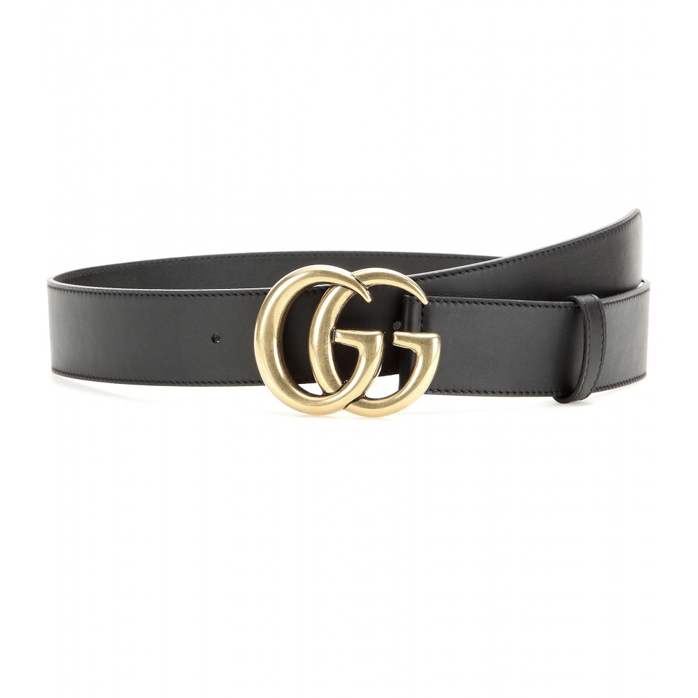 Lyst - Gucci Leather Belt in Black