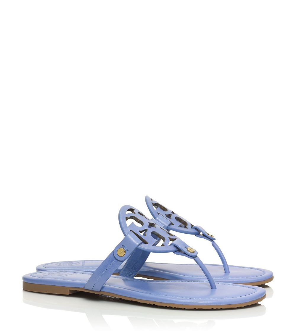 Tory Burch Miller Sandal in Blue - Lyst