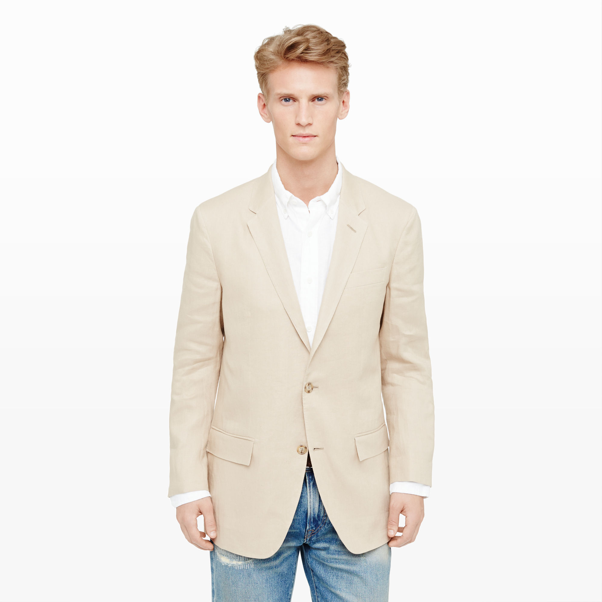 c0644bdf264b Club Monaco New Grant Italian Linen Blazer in Natural for Men - Lyst