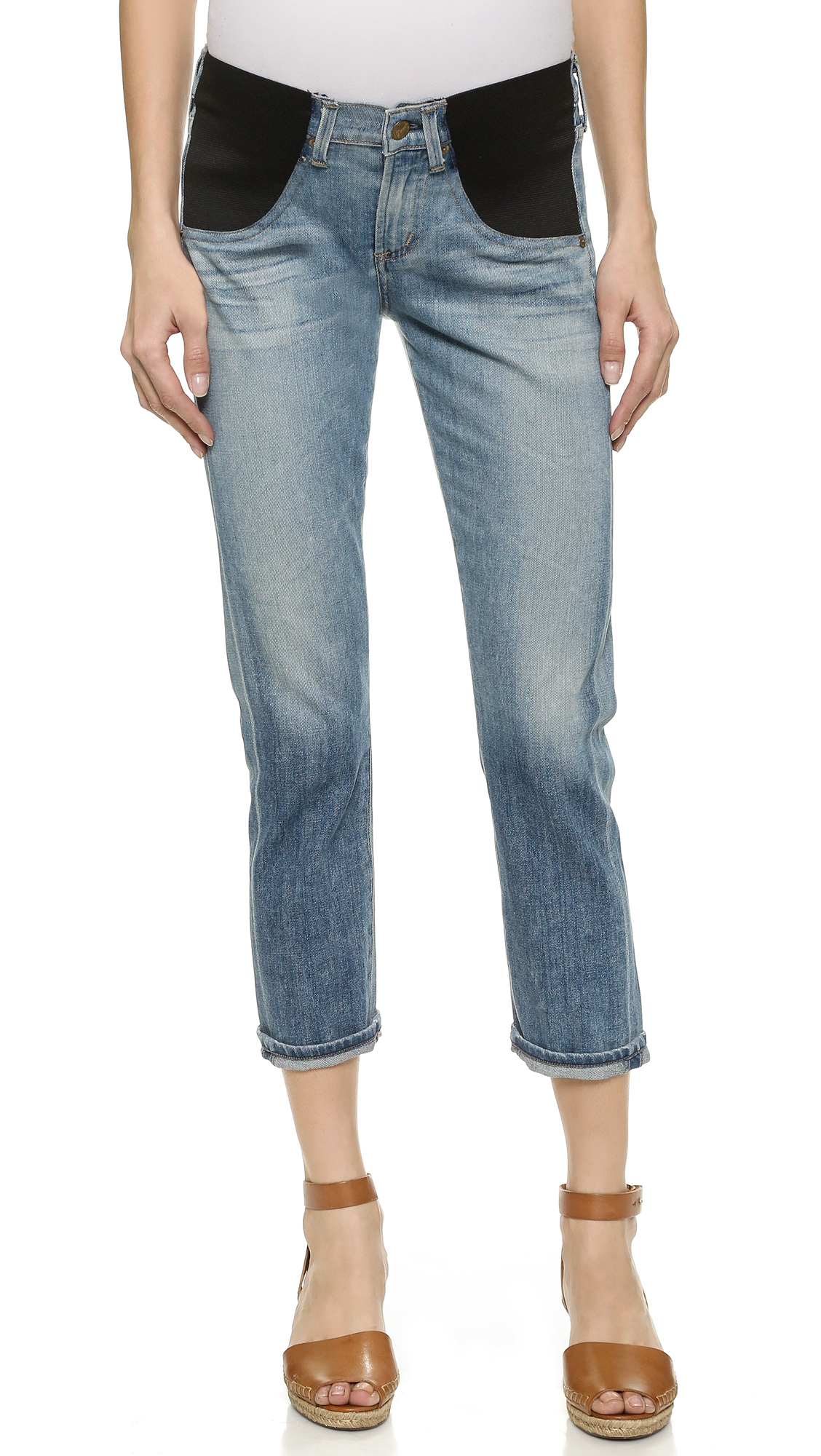 e8aba66b69f62 Citizens of Humanity Emerson Slim Boyfriend Maternity Jeans ...