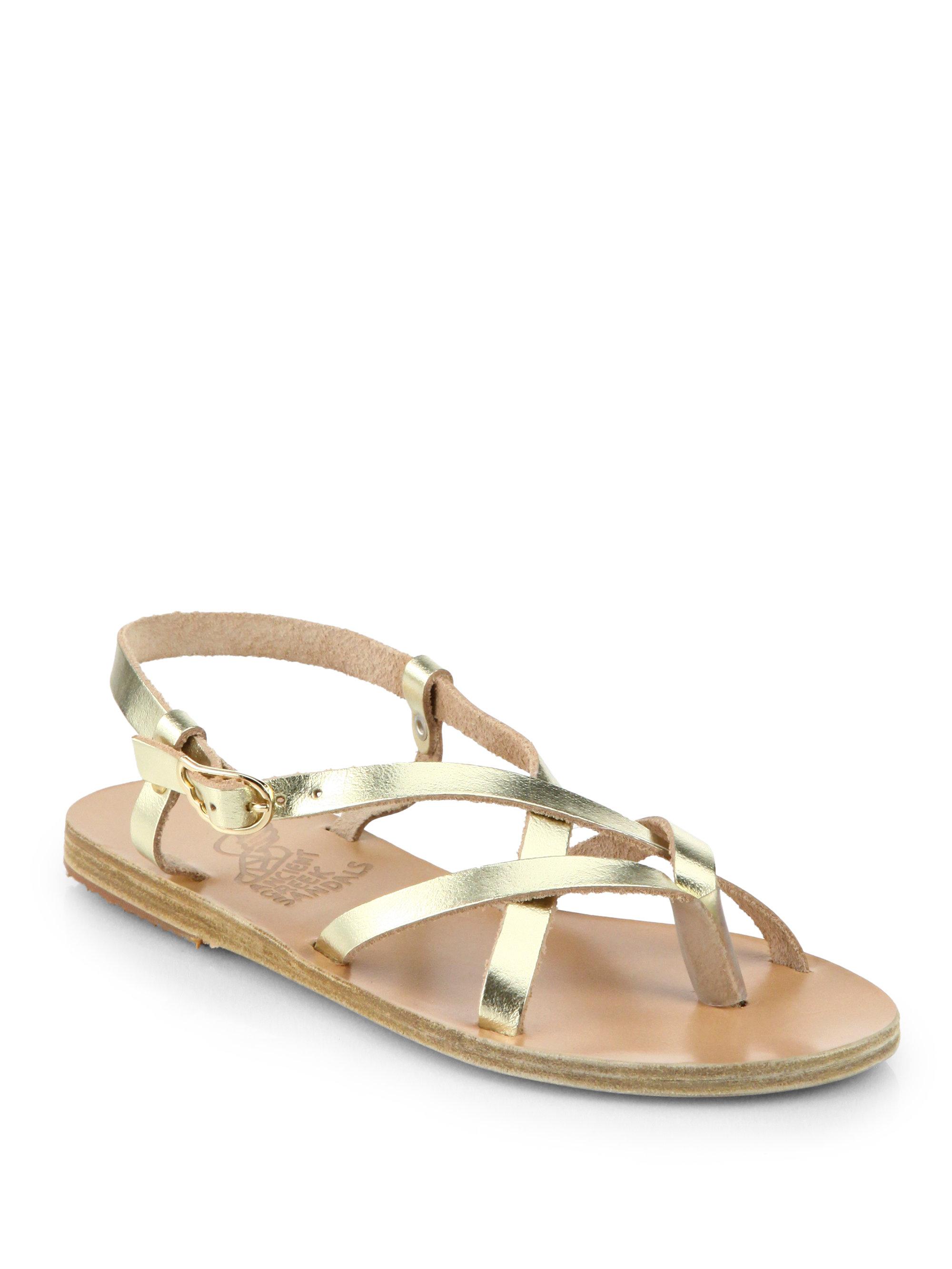 Ancient Greek Sandals Semele Criss Cross Leather Sandals