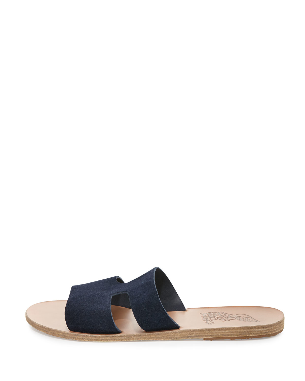 9838983380e6 Lyst - Ancient Greek Sandals Apteros Double-band Flat Slide Sandal ...