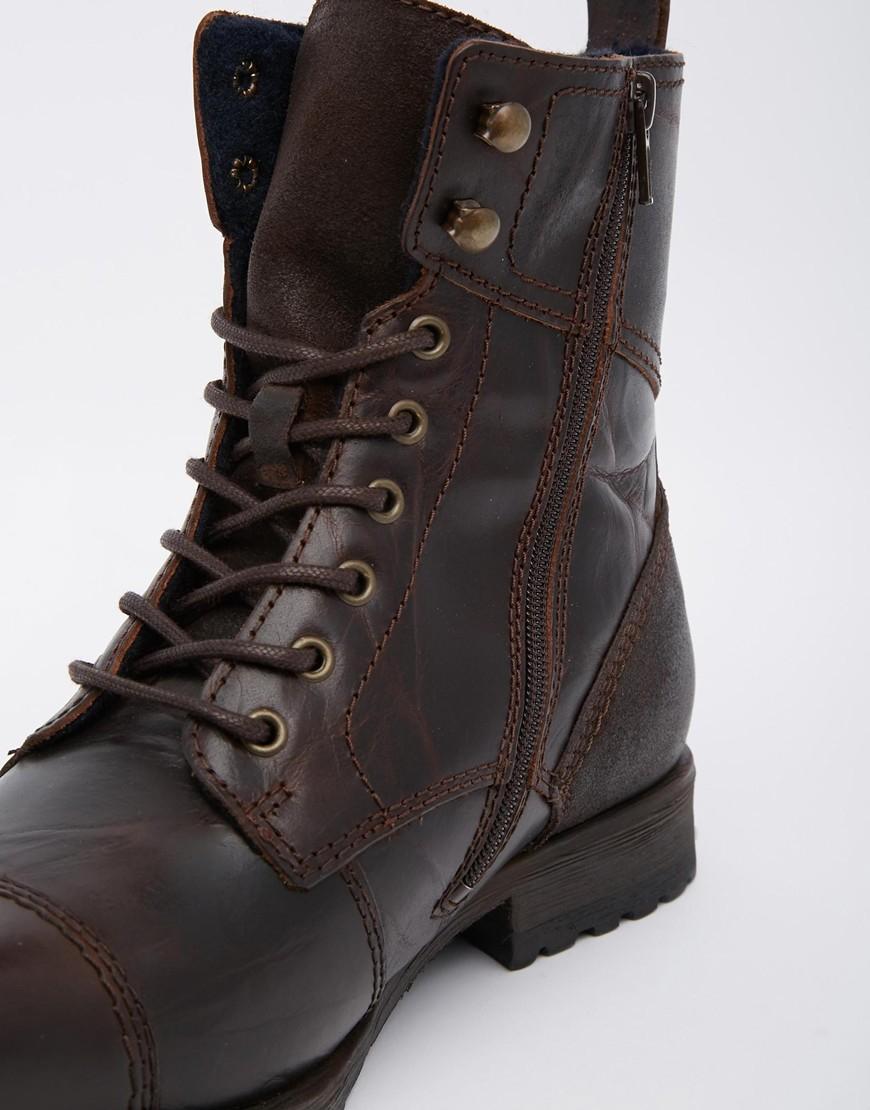d74fec9f39 ALDO Graegleah Leather Derby Boots in Brown for Men - Lyst