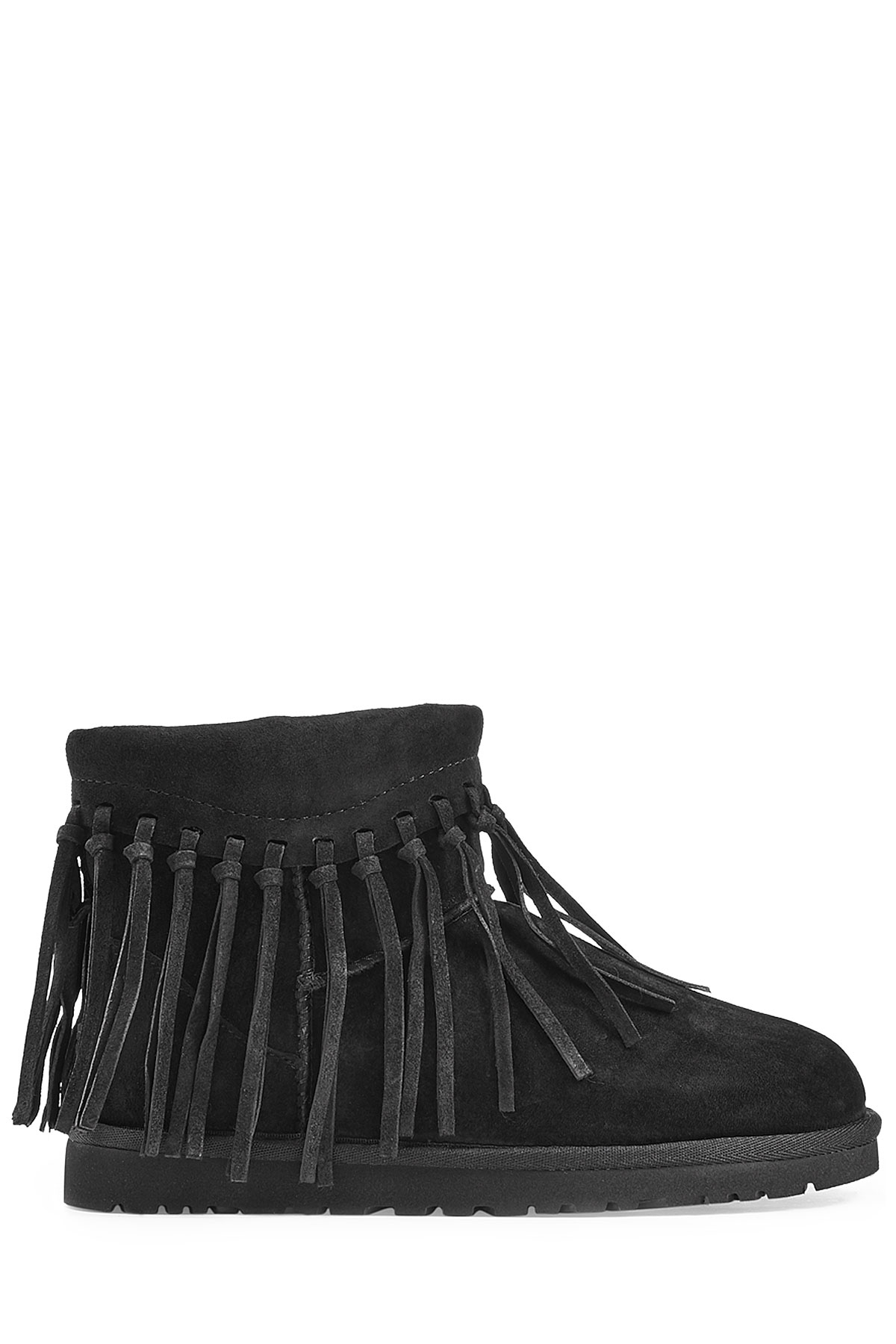 d5e6a7533f6 UGG Wynona Fringe Sheepskin Boots - Black