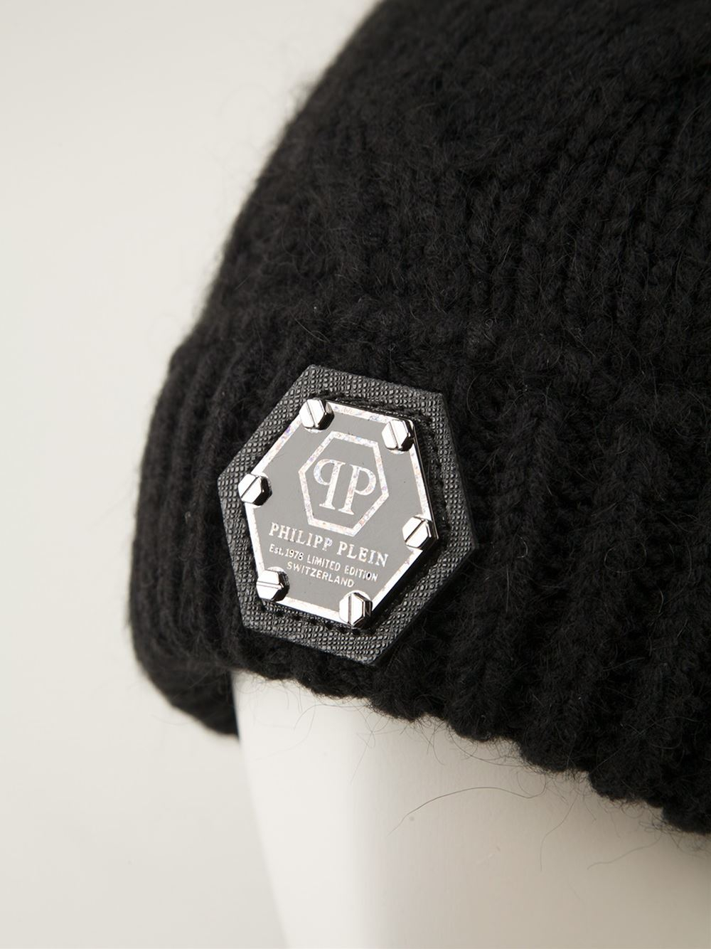 4ee9a762753 Philipp Plein Ribbed Beanie in Black for Men - Lyst
