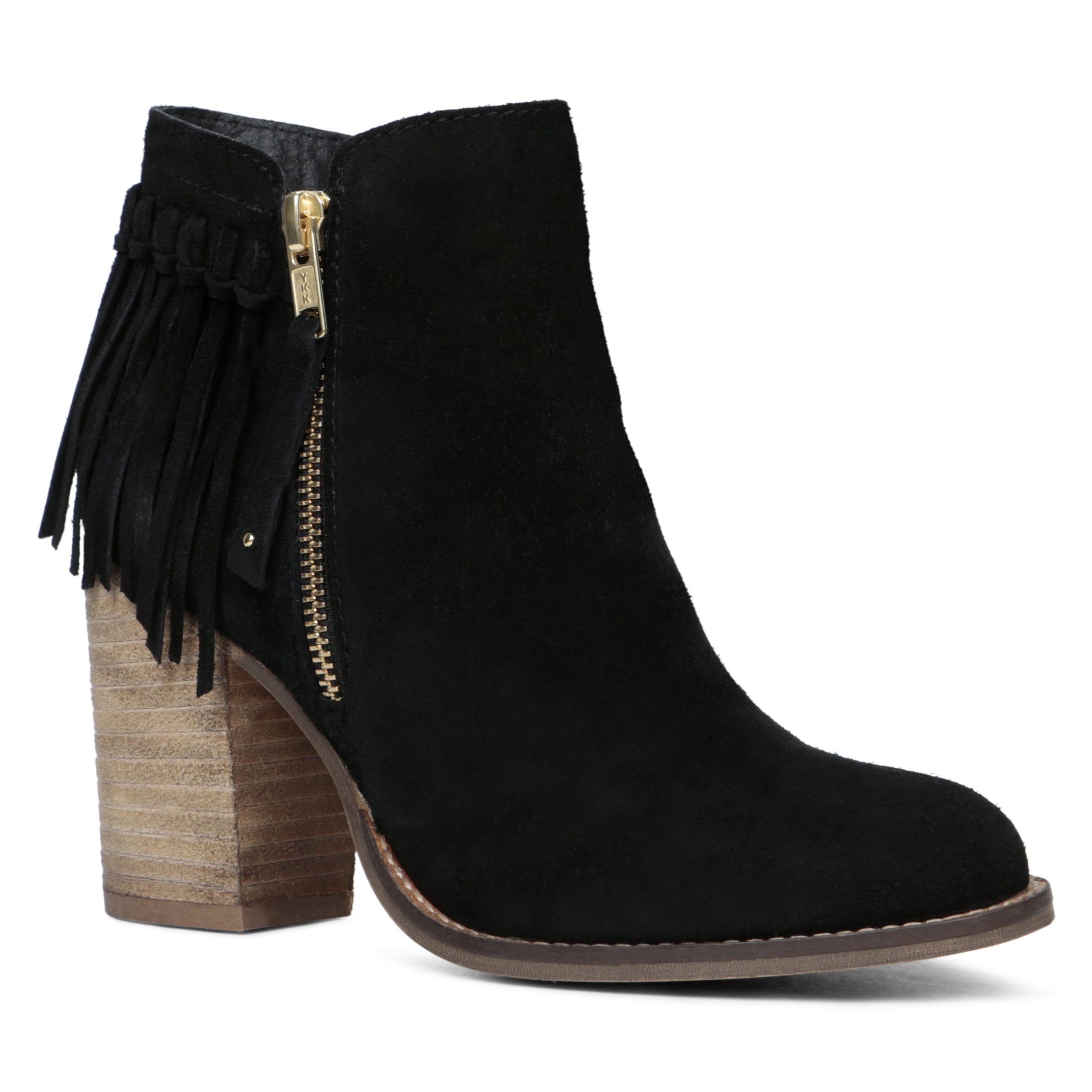 Fringe boots - results from brands Minnetonka, Pleaser, SODA, products like Minnetonka Venice' Fringe Moccasin Bootie (Women) at Nordstrom Rack, Matisse Womens Lombard Fringe Boots, Women's Poetic Licence Boho Fantasies Fringe Ankle Boot - Black Leather Boots.