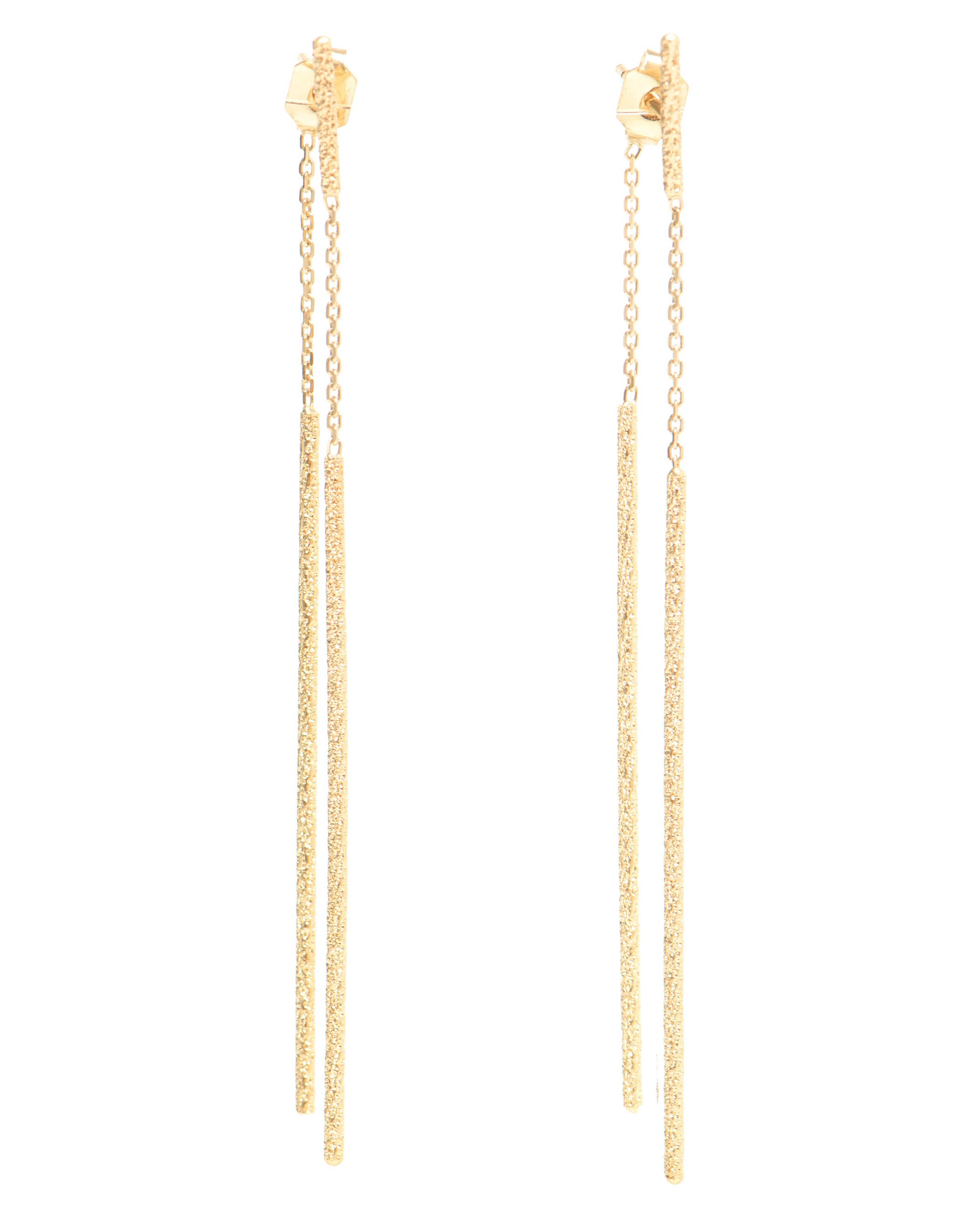 Carolina bucci 18k gold magic wand earrings in metallic lyst for Wand metallic