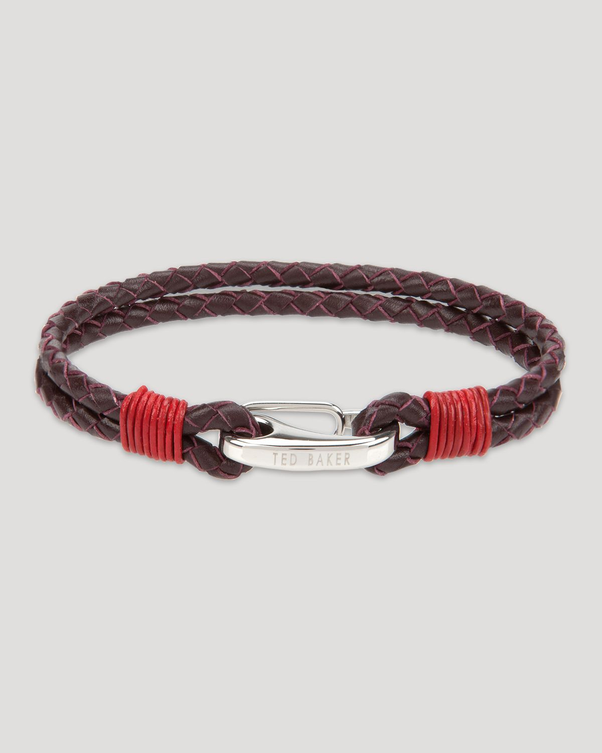 Ted Baker Twobee Plaited Two Strand Bracelet In Brown For