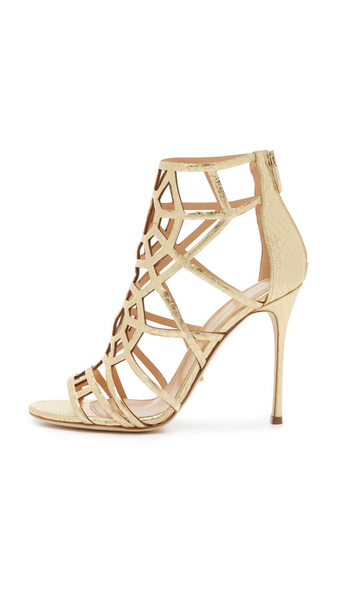 Sergio Rossi Cutout Leather Sandals sale authentic discount limited edition 2014 newest outlet order online discount pay with paypal lhRE6