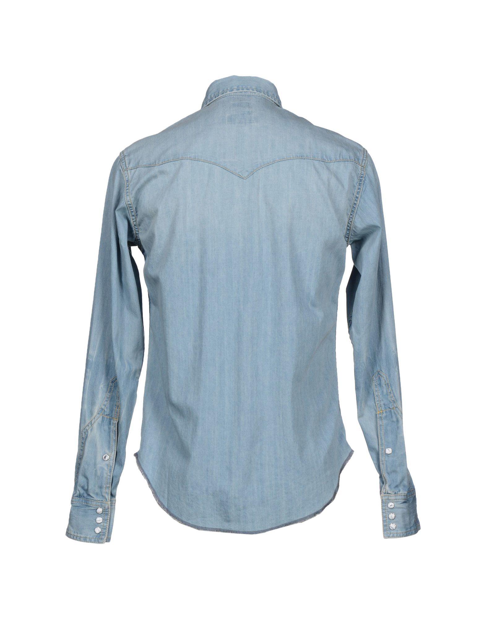 Lyst Prps Denim Shirt In Blue For Men
